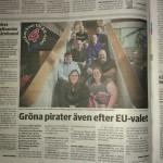 Lokaltidningens inslag om oss inför EU-valet.