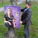Kampanjarbetande Mattias.